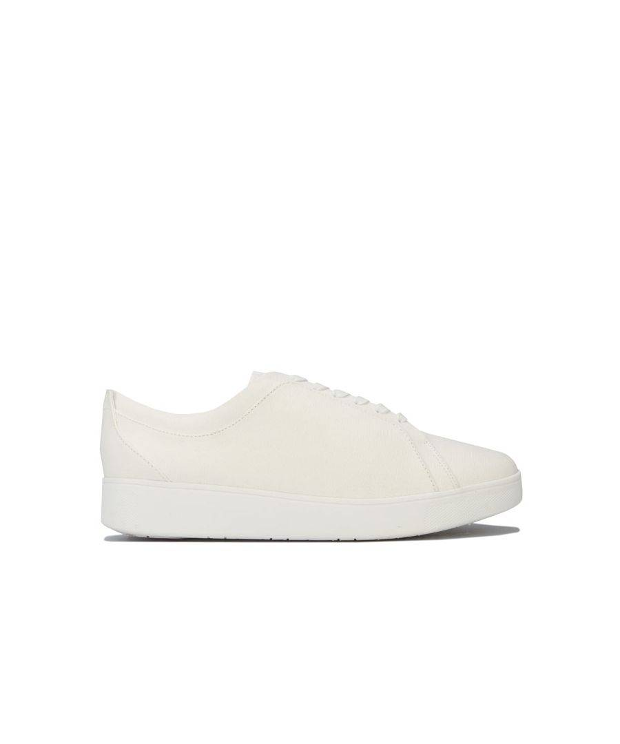 Fitflop Women's Fit Flop Rally Denim Trainers in White  - White - Size: 6