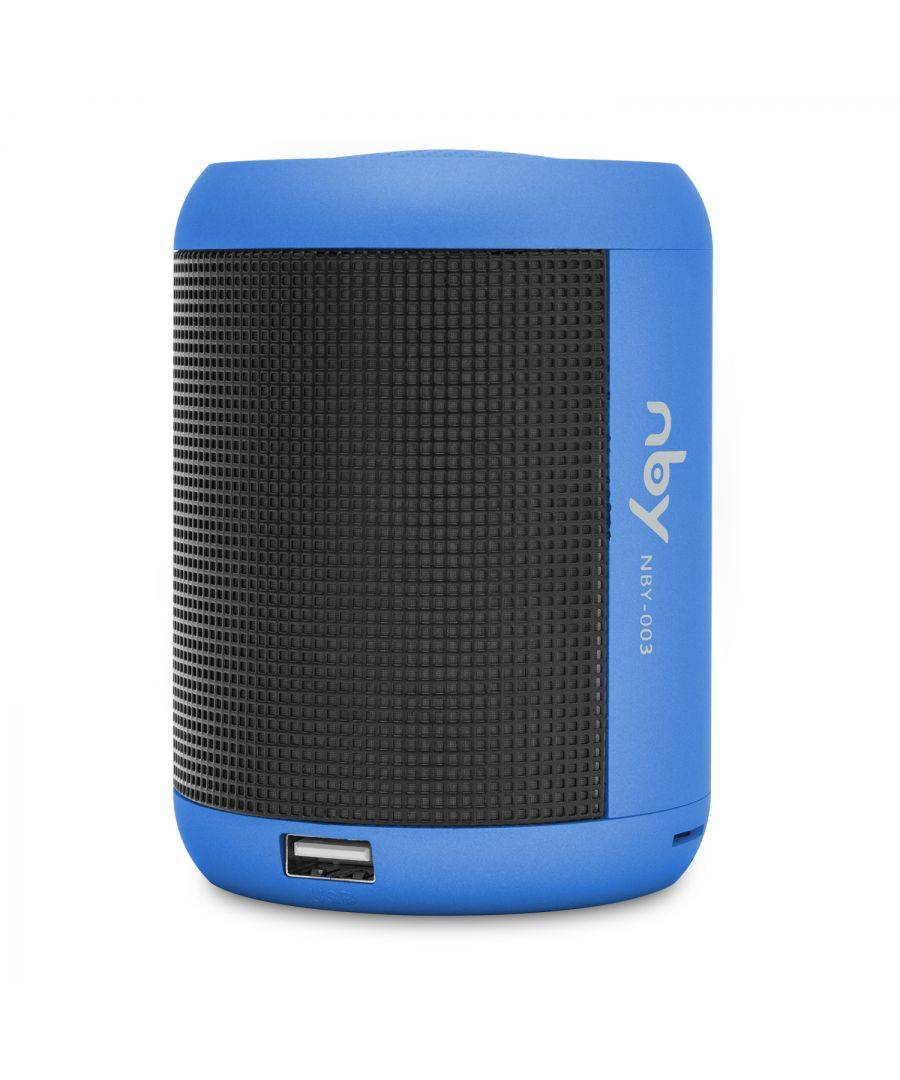 NBY Small LED Light Speakers Blue - One Size