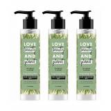 Love Beauty & Planet Invigorating Detox Tea Tree Vetiver Face Cleansing Gel 3 x 125ml  - Size: One Size