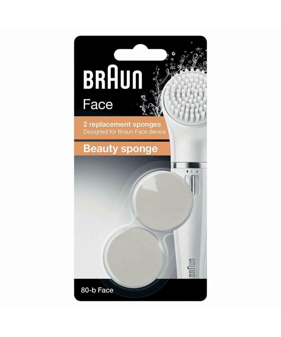Braun Silk Epil Fce Se80-B Bty Spnge Ref 2ct - One Size