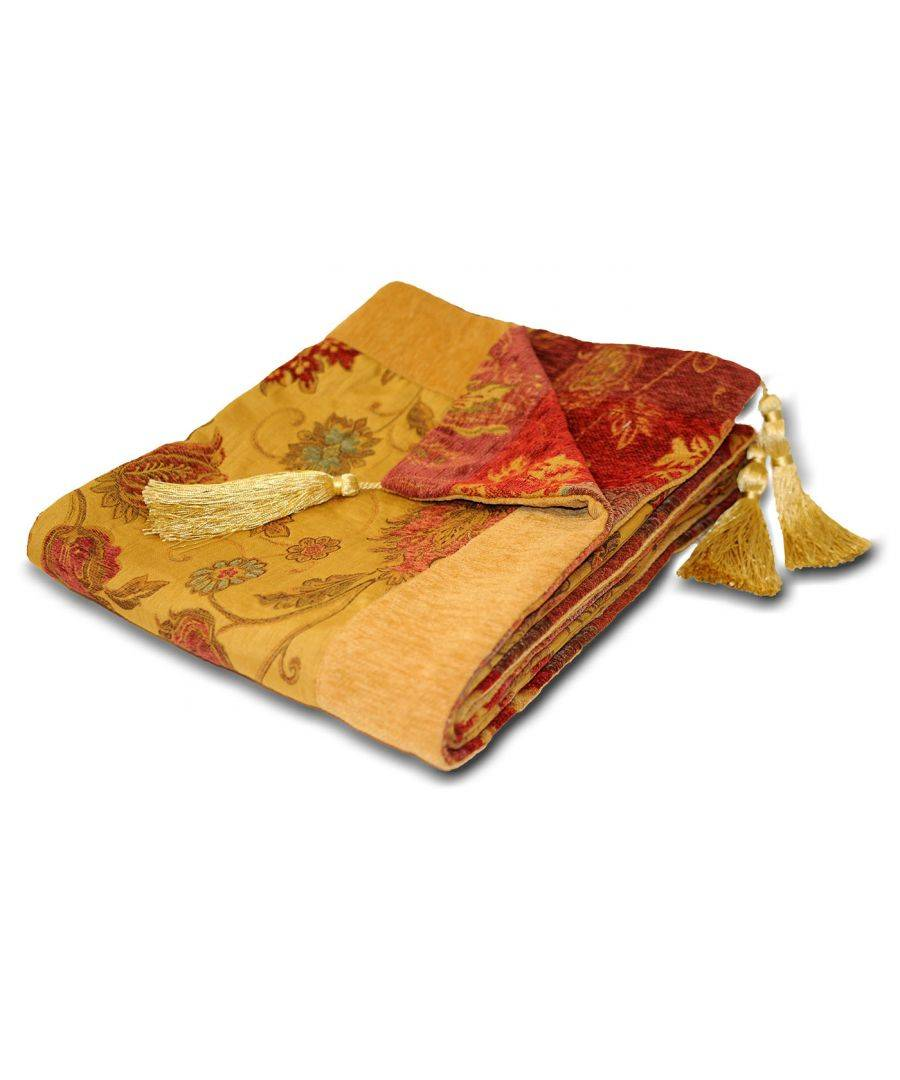 Riva Home Zurich Throw 150X180 Gold  - Gold - Size: One Size