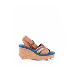 Chloé Chloe Womens Wedge Sandal Multicolor SB30144 CUOIO MULTI - Multicolour - Size 6