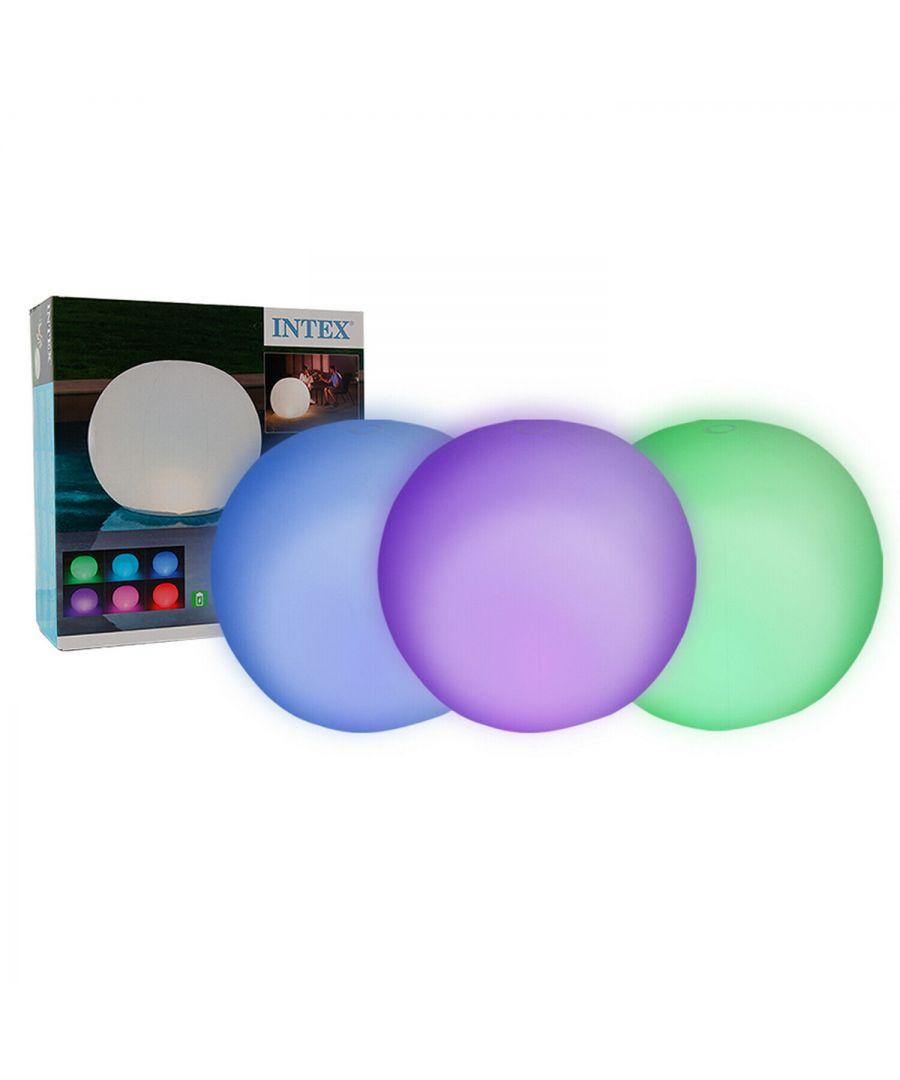 Intex 68695 Waterproof Floating Sphere LED Pool Garden Light  - Size: One Size