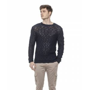 Alpha Studio Mens Blunavy Sweater - Grey - Size Medium