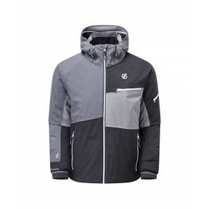 Dare 2b Mens Supercell Waterproof Ski Jacket (Black/Ebony Grey) - Multicolour - Size S