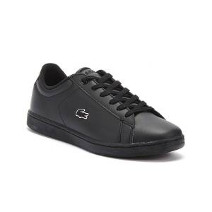 Lacoste Carnaby EVO BL 3 Junior Black Trainers  - Black - Size: UK 2