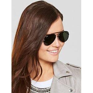 Ray-Ban Highstreet Sunglasses, Gold/Green, Women