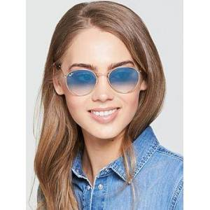 Ray-Ban Round Sunglasses, Blue/Gold, Women