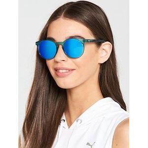 Puma Mirrored Sunglasses - Light Blue, Blue, Women