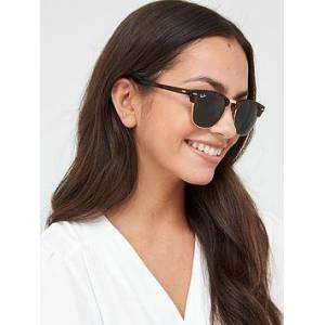 Ray-Ban Clubmaster Sunglasses, Tort/Green, Women