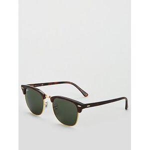 Ray-Ban Clubmaster 0RB3016 Sunglasses - Tortoiseshell, Tort/Green, Men