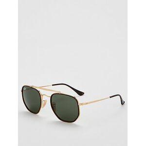 Ray-Ban 0rb3648m Hexagonal Frame Sunglasses, Gold, Men