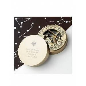Very Iconic Adventurer's Sundial Compass, Gold, Women
