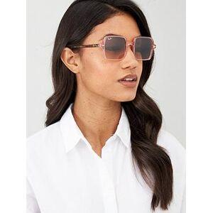 Ray-Ban Square II Sunglasses, Pink/Gold, Women