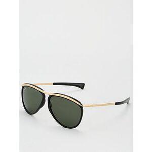 Ray-Ban Olympian Aviator Sunglasses - Black/Gold, Black, Men