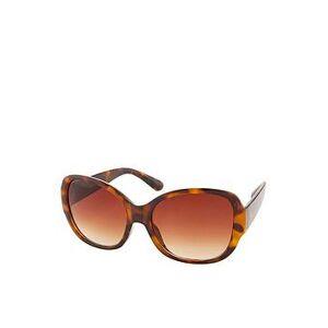 Accessorize Savannah Glam Square Sunglasses - Tortoiseshell, Brown, Women