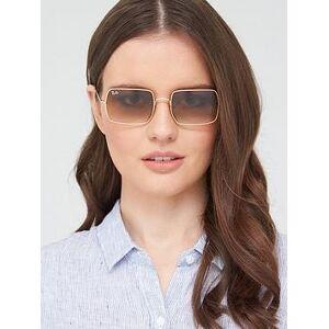 Ray-Ban Square Sunglasses - Gold, Gold, Women