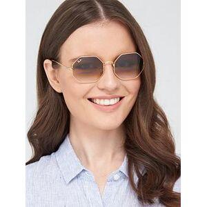 Ray-Ban Hexaganol Sunglasses - Gold, Gold, Women