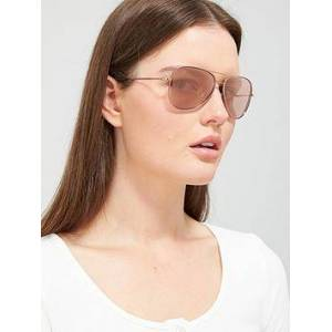 DKNY Pilot Sunglasses - Rose Gold, Rose Gold, Women