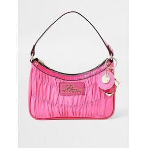River Island Scoop Shoulder Ruched Bag - Pink, Pink, Women