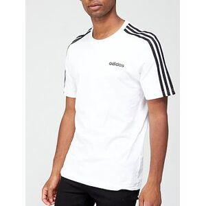adidas Essential 3-Stripe T-Shirt - White, White, Size Xl, Men