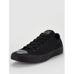 Converse Chuck Taylor All Star Ox - Black , Black/Black, Size 10, Men