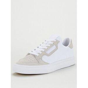 adidas Originals Continental Vulc Canvas - White, White/Beige, Size 6, Men