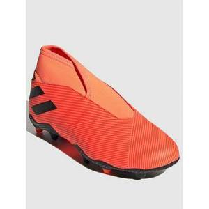 adidas Junior Nemeziz Laceless 19.3 Firm Ground Football Boot - Red Black, Red/Black, Size 2