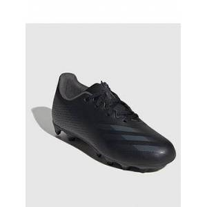adidas Junior X Ghosted.4 Firm Ground Football Boot - Black, Black, Size 10
