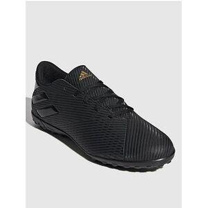 adidas Nemeziz 19.4 Astro Turf Football Boots - Black, Black, Size 9.5, Men
