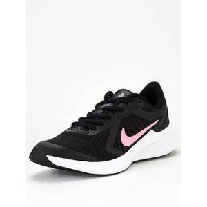 Nike Downshifter 10 Junior Trainers - Black/Pink, Black/Pink, Size 4
