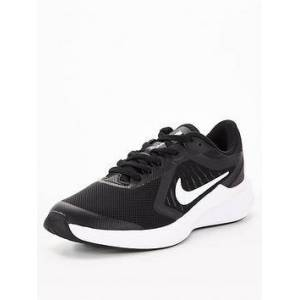 Nike Nike Downshifter 10 Childrens Trainer, Black/White, Size 11