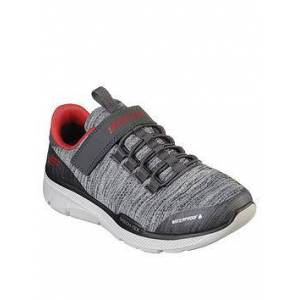 Skechers Boys Equalizer 3.0 Boys Waterproof Trainer - Charcoal, Charcoal, Size 9 Younger