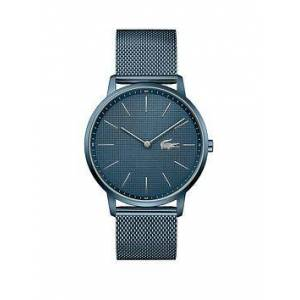 Lacoste Moon Ice Blue Mesh Bracelet Blue Dial Mens Watch, One Colour, Men