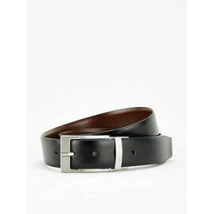 Ted Baker Connary Reversible Leather Belt - Black/Brown, Black/Brown, Size 30, Men