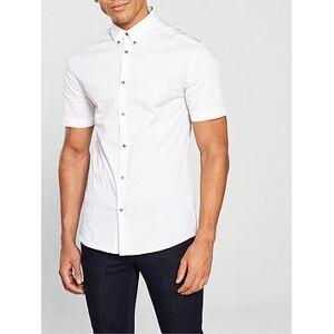 River Island White Short Sleeve Muscle Shirt, White, Size M, Men
