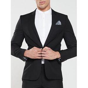 River Island Edward Skinny Black Jacket, Black, Size 40, Inside Leg Regular, Men