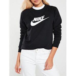 Nike NSW Essential Hbr Sweat, Black, Size S, Women