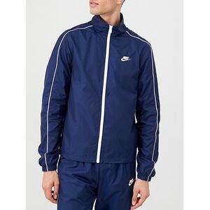 Nike Sportswear Woven Tracksuit - Navy, Navy, Size L, Men
