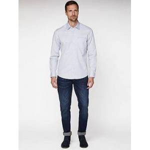 Jeff Banks Oval Dobby Tailored Fit Shirt - White, White, Size M, Men
