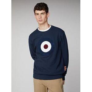 Ben Sherman Boucle Target Sweatshirt - Dark Blue, Dark Blue, Size Xl, Men