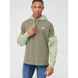 Nike Overhead Jersey Hoodie - Olive, Olive, Size S, Men