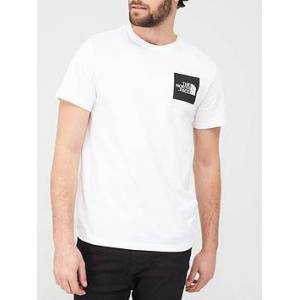 THE NORTH FACE Short Sleeve Fine T-Shirt - White, White/Black, Size M, Men