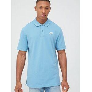 Nike Sportswear CE Matchup Pique Polo - Blue, Blue/White, Size M, Men