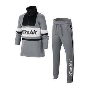 Nike Sportswear Air Older Boys Tracksuit - Grey Black, Grey/Black, Size M=10-12 Years