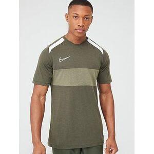 Nike Academy Gx Short Sleeved Tee - Khaki, Khaki, Size Xl, Men