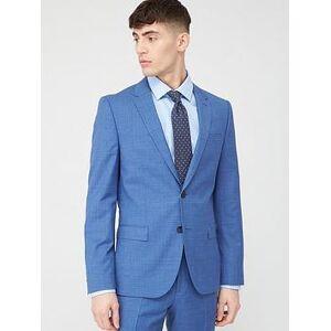 HUGO Harvey Check Slim Suit Jacket - Light Blue, Light Blue, Size 40, Men