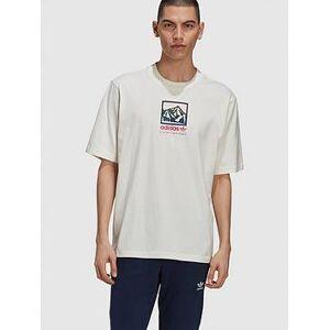 adidas Originals Adiplore 2.0 Premium Graphic T-shirt - Off White, Off White, Size M, Men