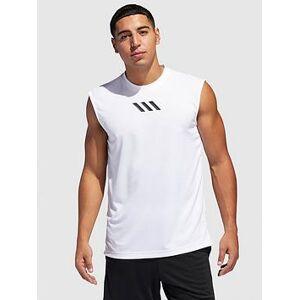 adidas PM Sleeveless Tank - White , White, Size M, Men