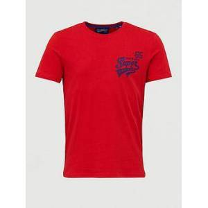 Superdry Campus T-shirt - Red, Red, Size M, Men